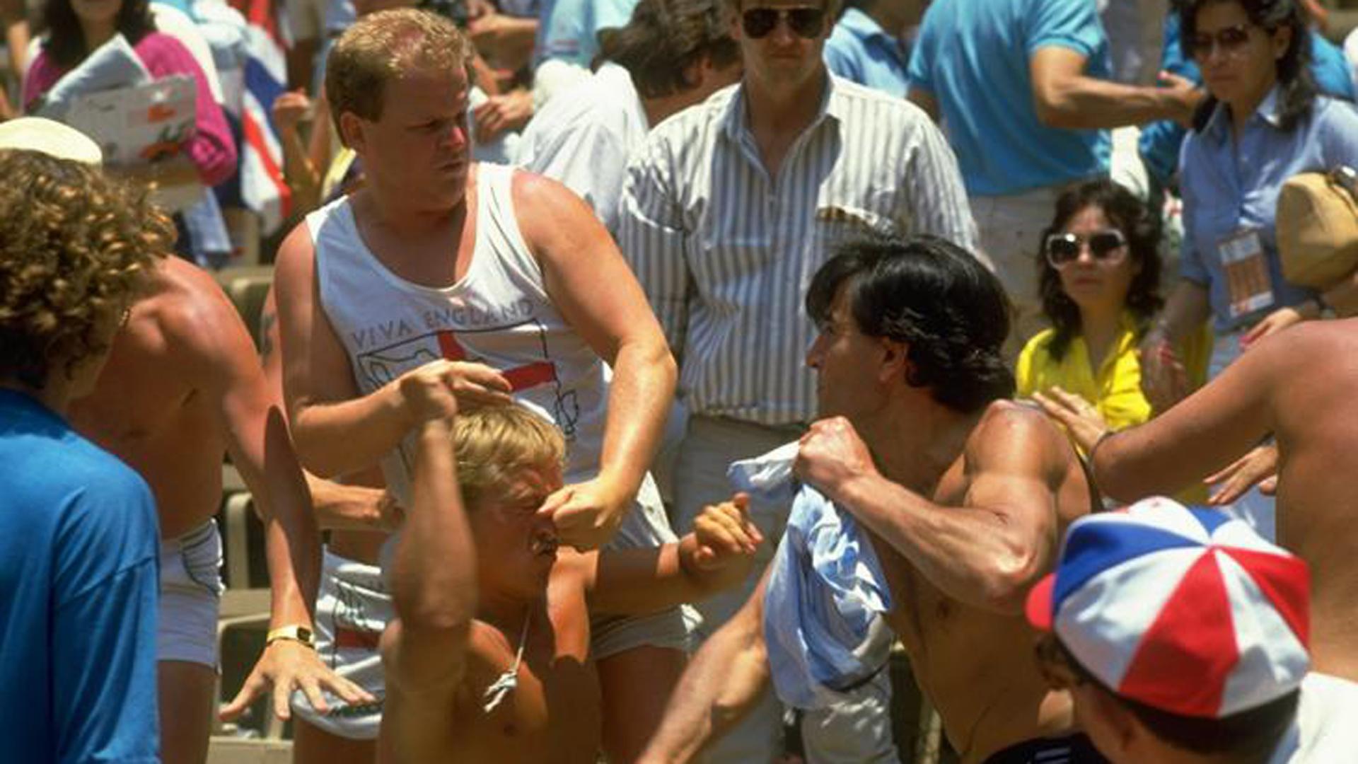 La barra argentina se enfrentó con los hooligans en México 1986