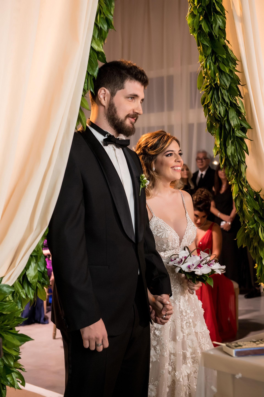 Dalma y Andrés, ante el altar