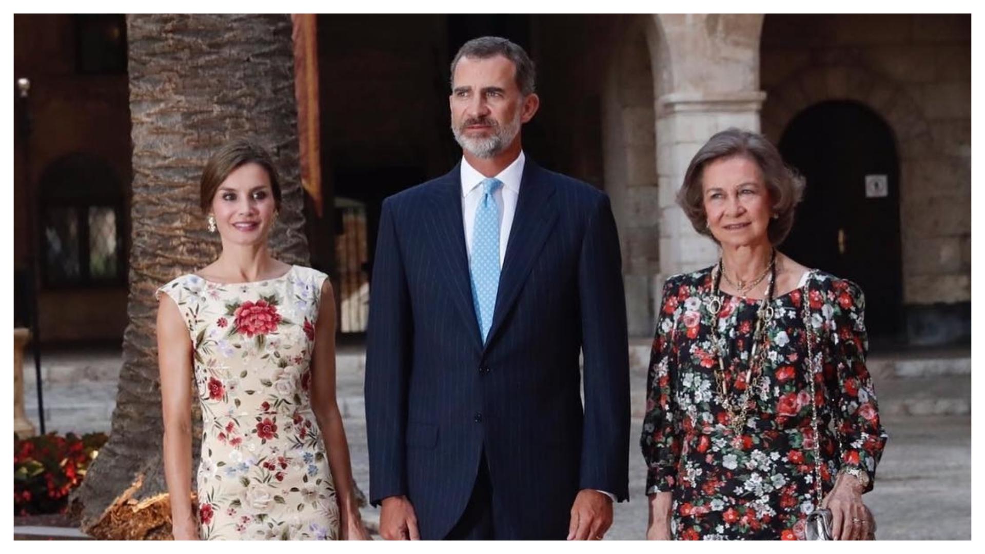 Letizia, Felipe y Sofía. (Foto Instagram)