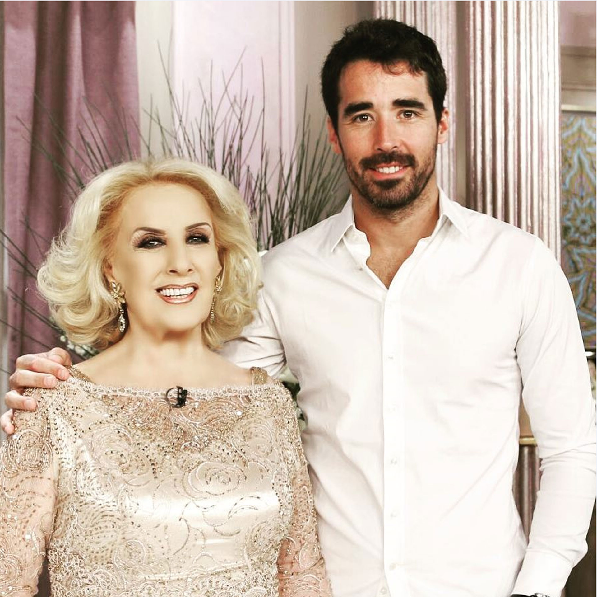 Nacho Viale junto a Mirtha Legrand (Foto: Instagram)