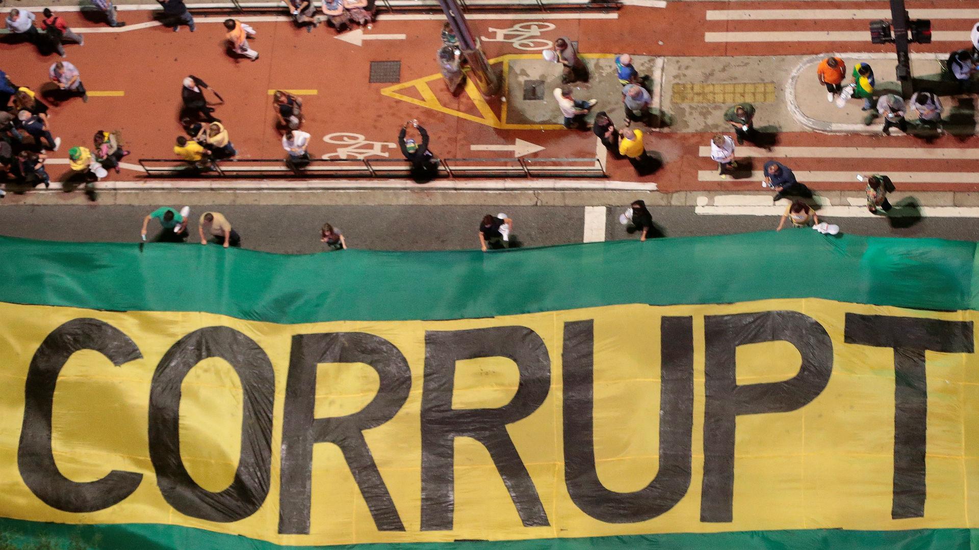 Una manifestación contra la corrupción en San Pablo (Reuters)