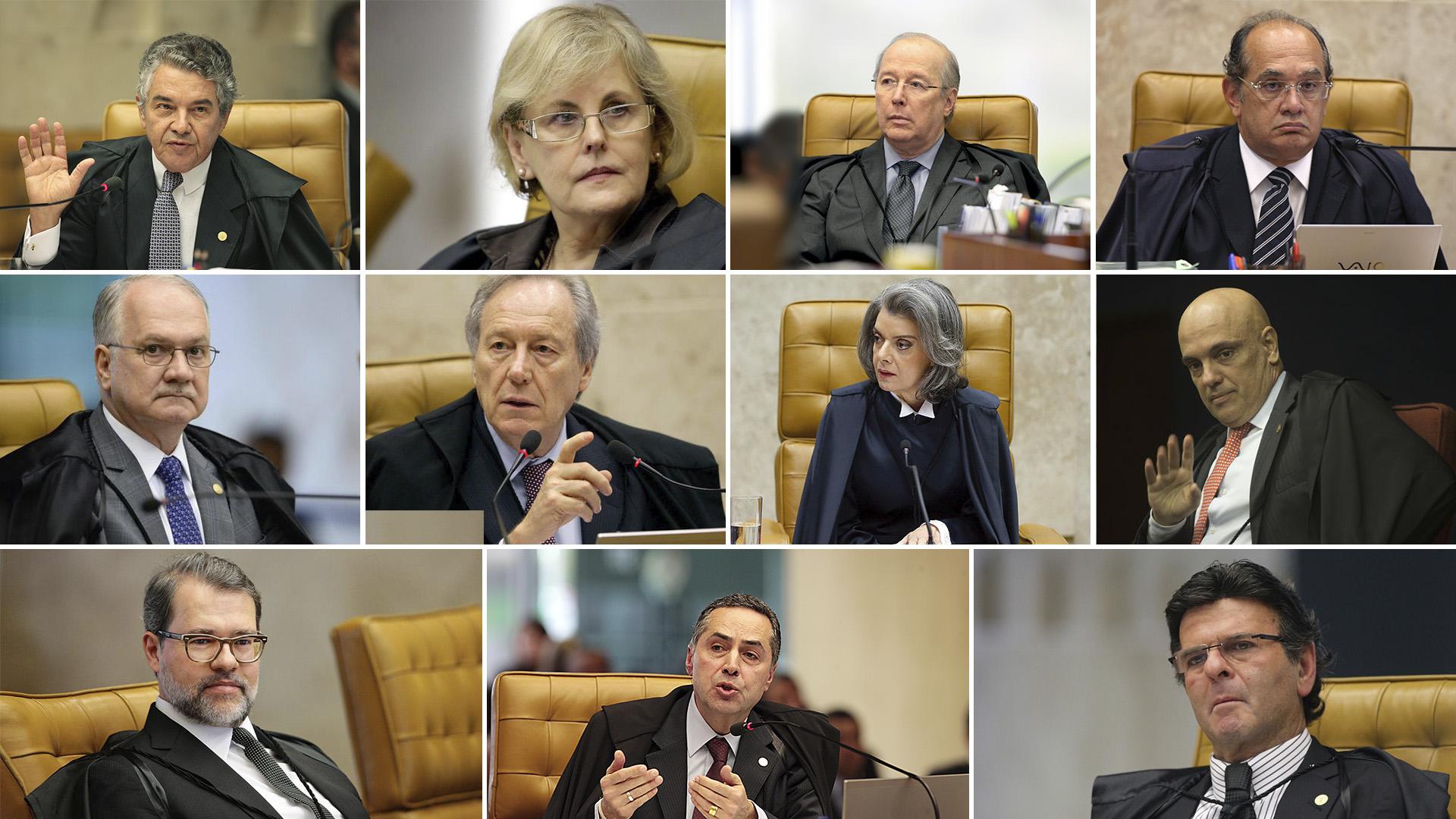 Los 11 jueces del Supremo Tribunal de Justicia de Brasil
