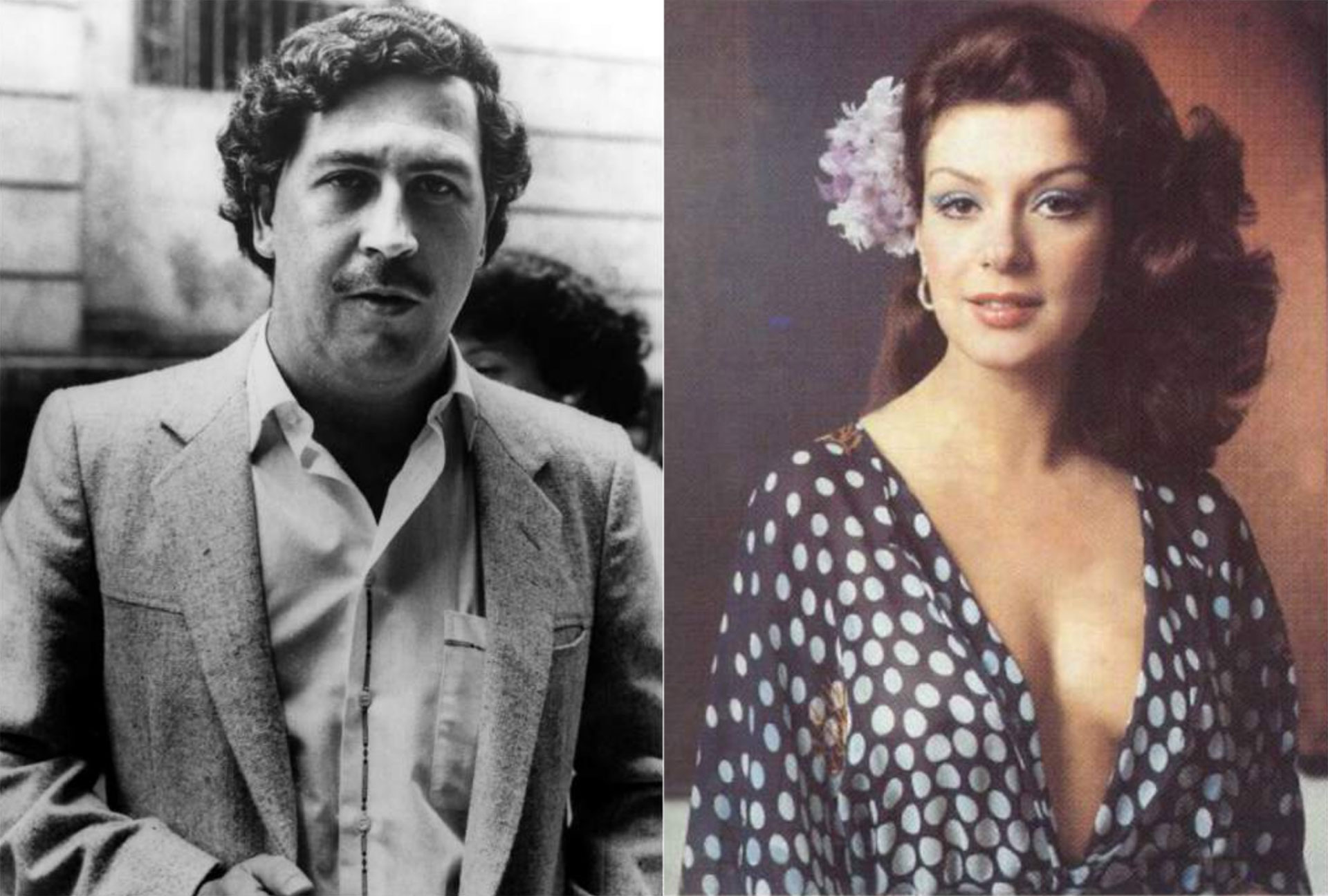 Pablo Escobar y Virginia Vallejo