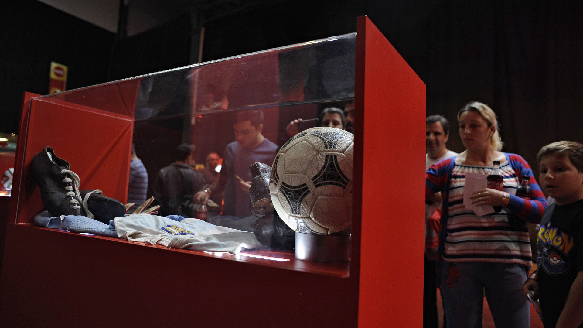 Los hinchas argentinos pudieron revivir momentos históricos de la Selección (Patricio Murphy)
