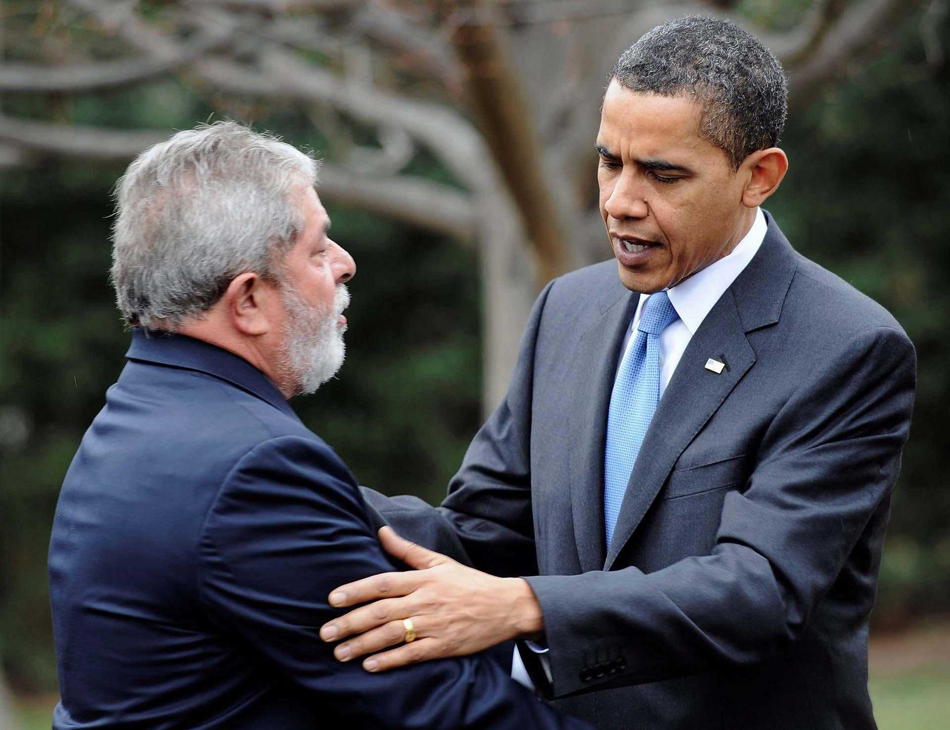 El 14 de marzo de 2009, a poco de haber asumido la presidencia de los Estados Unidos, Barack Obama recibió en la Casa Blanca a Lula da Silva(Reuters/Jonathan Ernst)