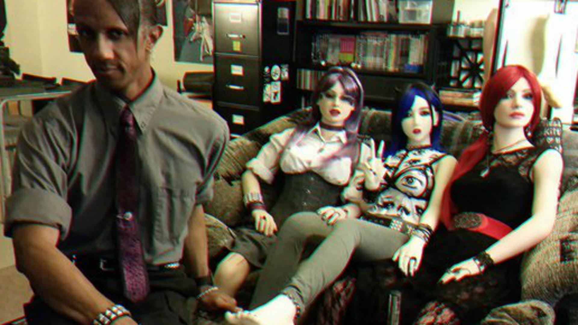 Davecat junto a Sidore, Elena y Miss Winter.