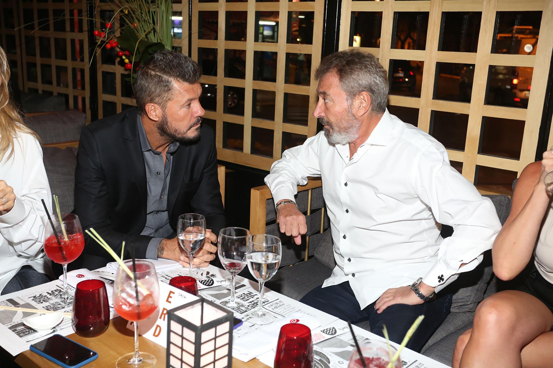 Marcelo Tinelli y Daniel Vila durante la cena