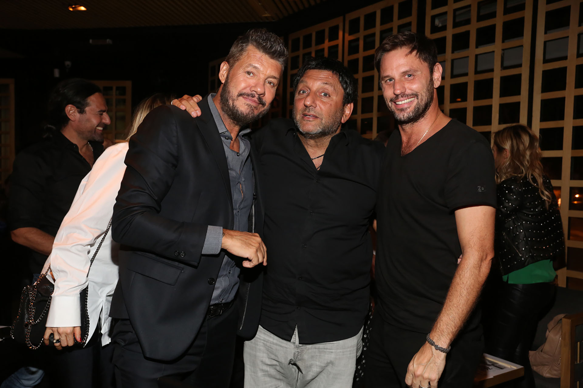 Marcelo Tinelli, Gabriel Hochbaum y Mariano Chihade