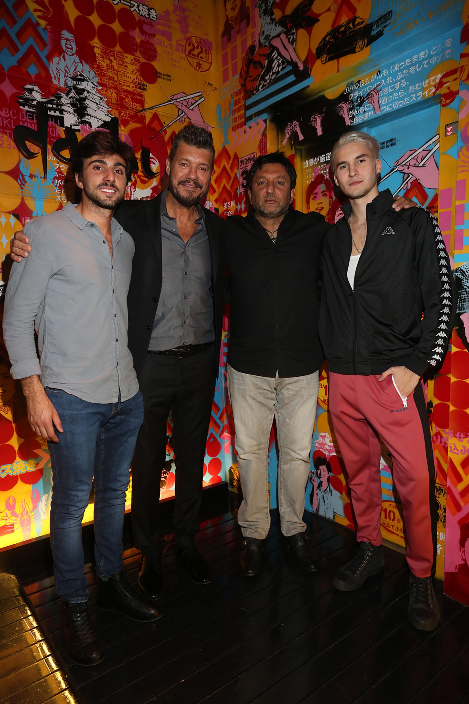 Sebastián Hochbaum, Marcelo Tinelli, Gabriel Hochbaum y Francisco Tinelli