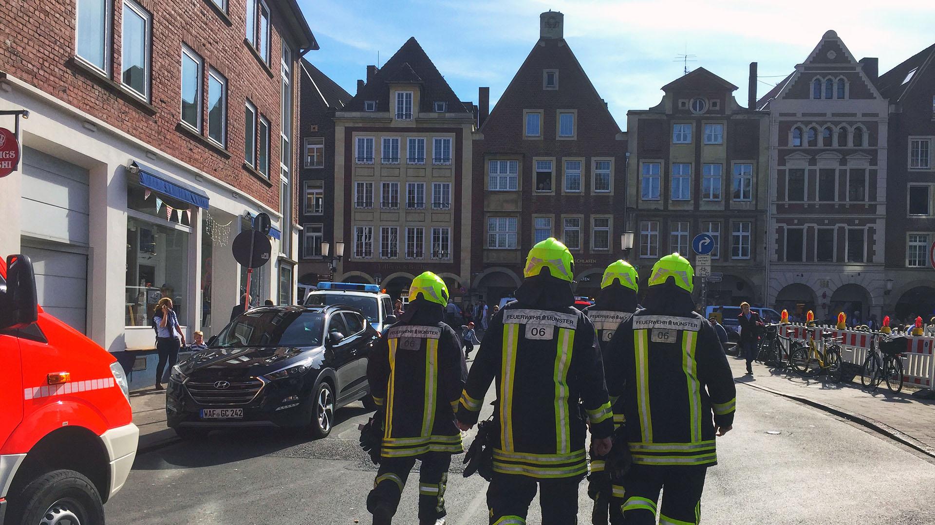 Los bomberos acudieron inmediatamente al lugar (AFP PHOTO / dpa / – / Germany OUT9