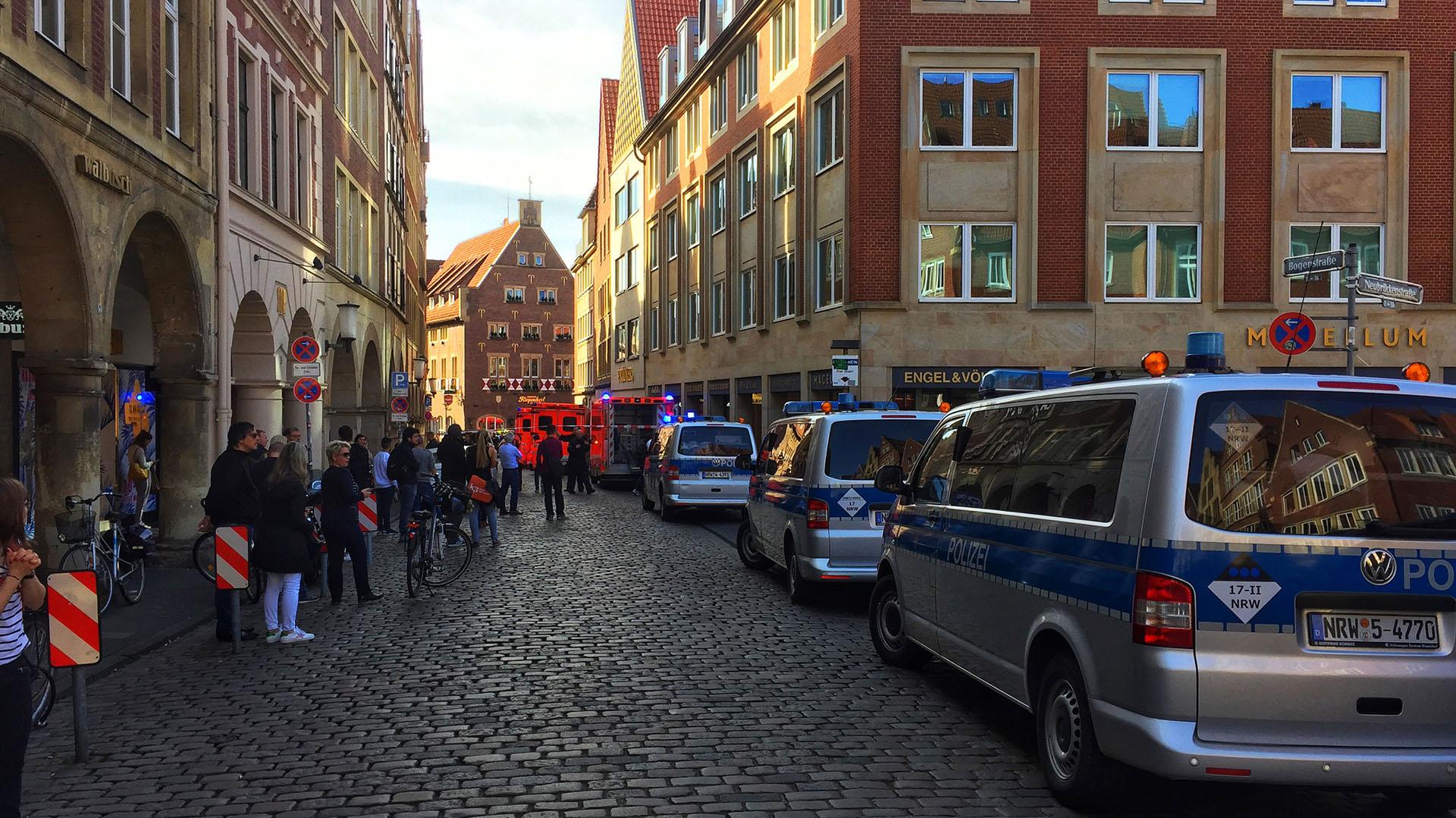 La policía acordonó la ciudad vieja de Munster(AFP PHOTO / dpa / – / Germany OUT)