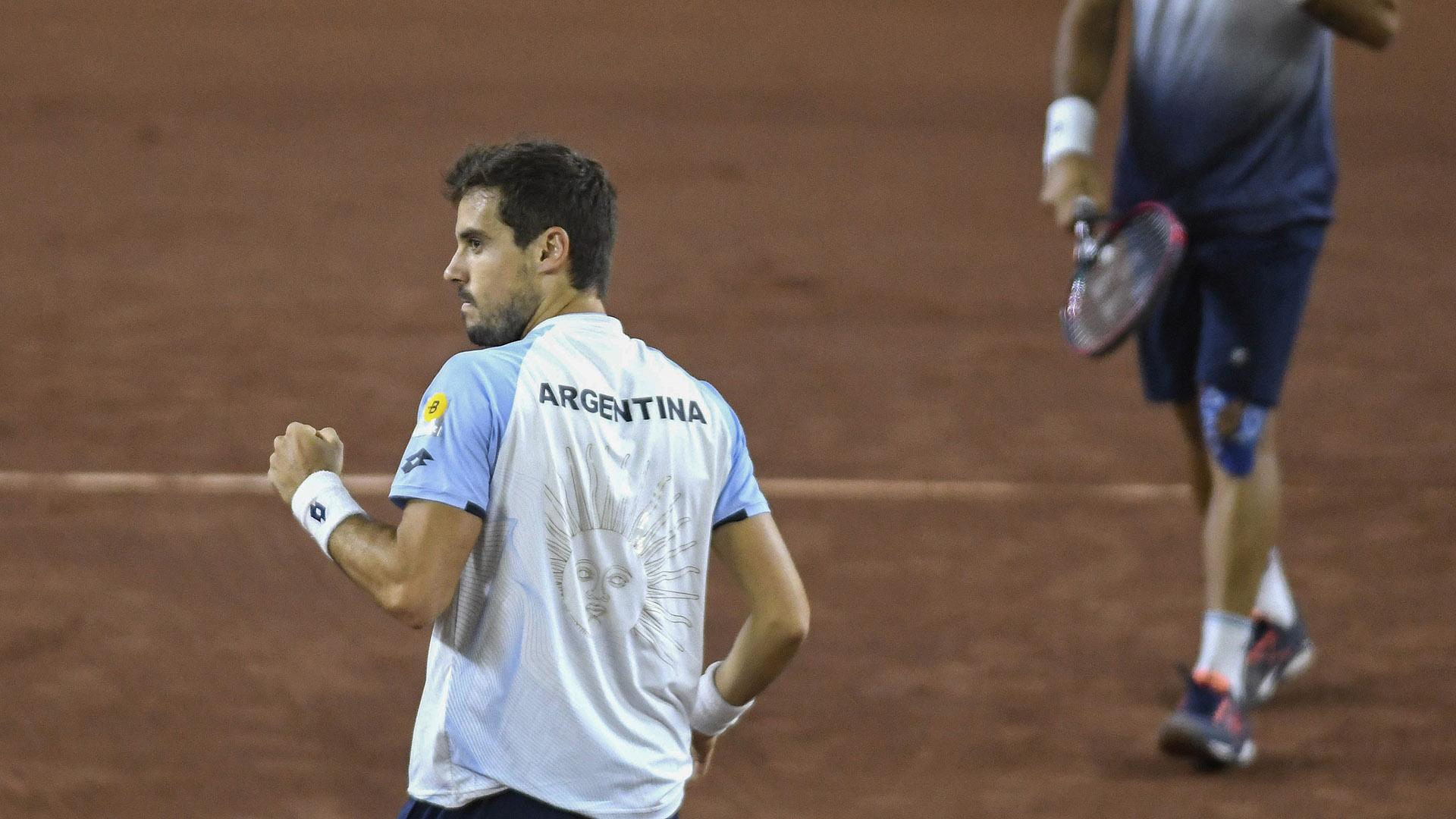 Durán y González, el equipo de dobles de Argentina (Crédito: AFP)