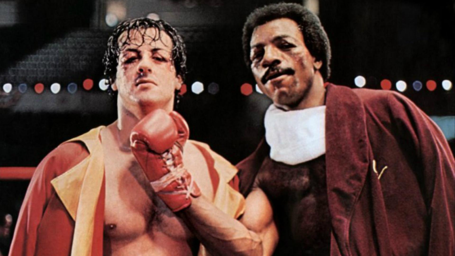 Resultado de imagen para El video inédito en el que Sylvester Stallone y Carl Weathers ensayan la legendaria batalla de la primera película de Rocky