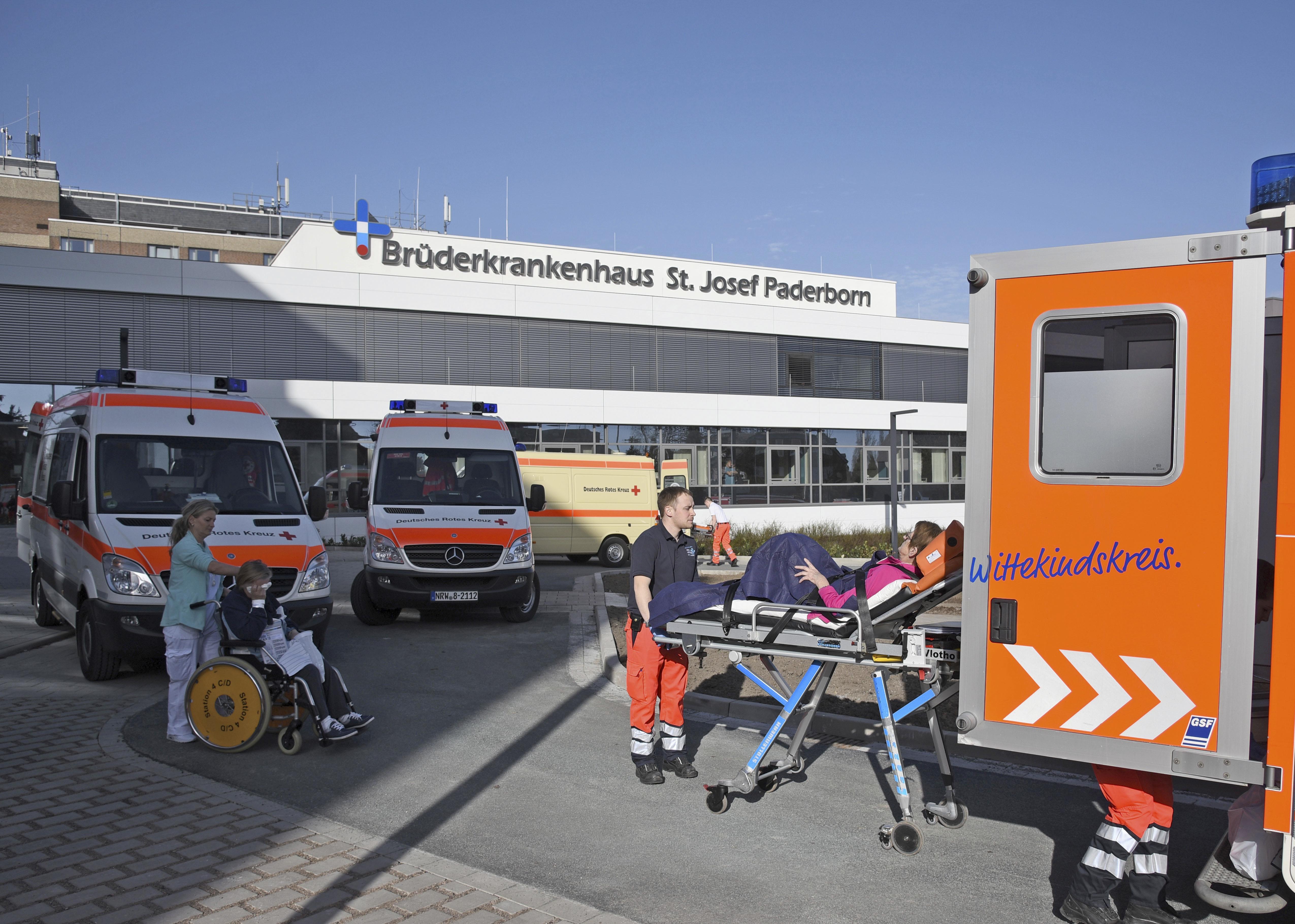 El operativo en Paderborn (Henning Kaiser/dpa via AP)