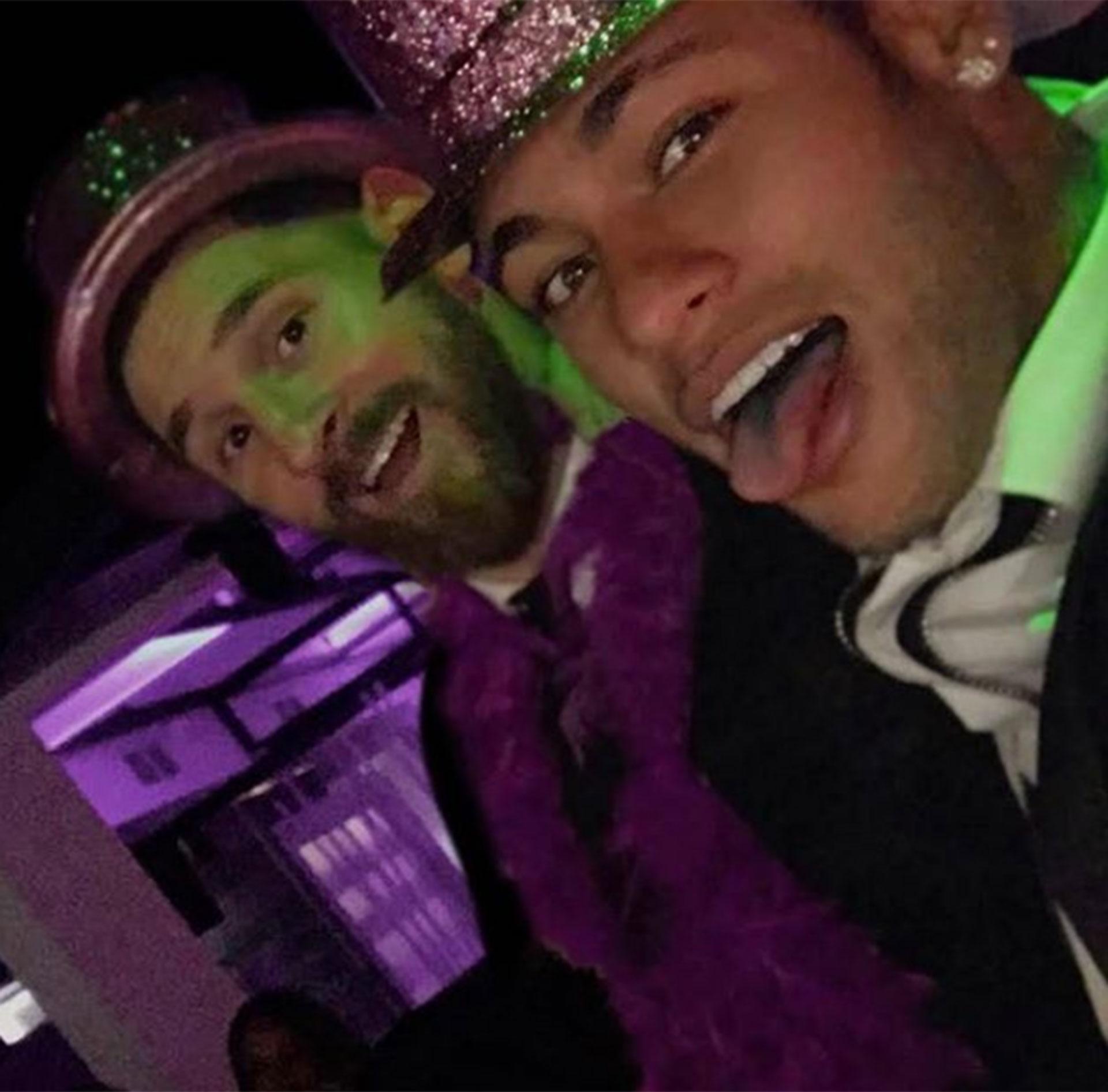Neymar fue uno de los invitados al casamiento de Lionel Messi