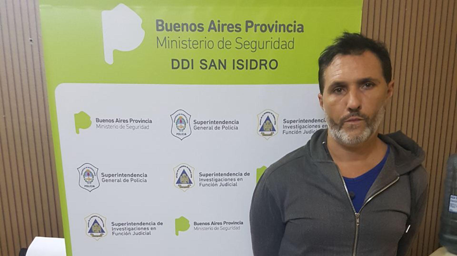 Nicolás Pachelo, tras ser detenido por los robos en el country Tortugas