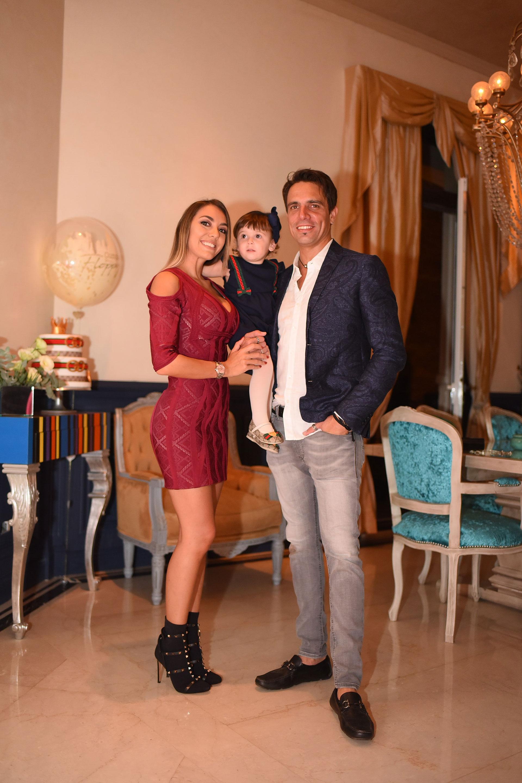 Floppy, Moorea y Rodrigo: familia feliz.