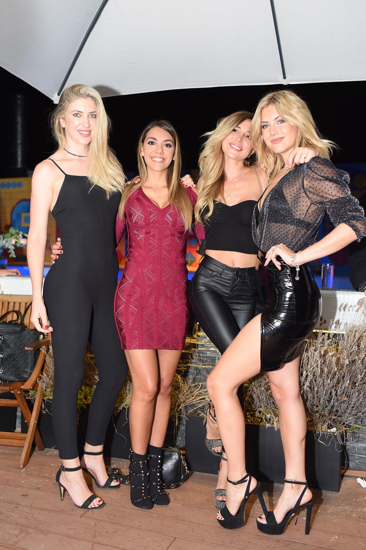 Póker de diosas: Milca Gili, Floppy, Copa Pram y Stephanie Demner.