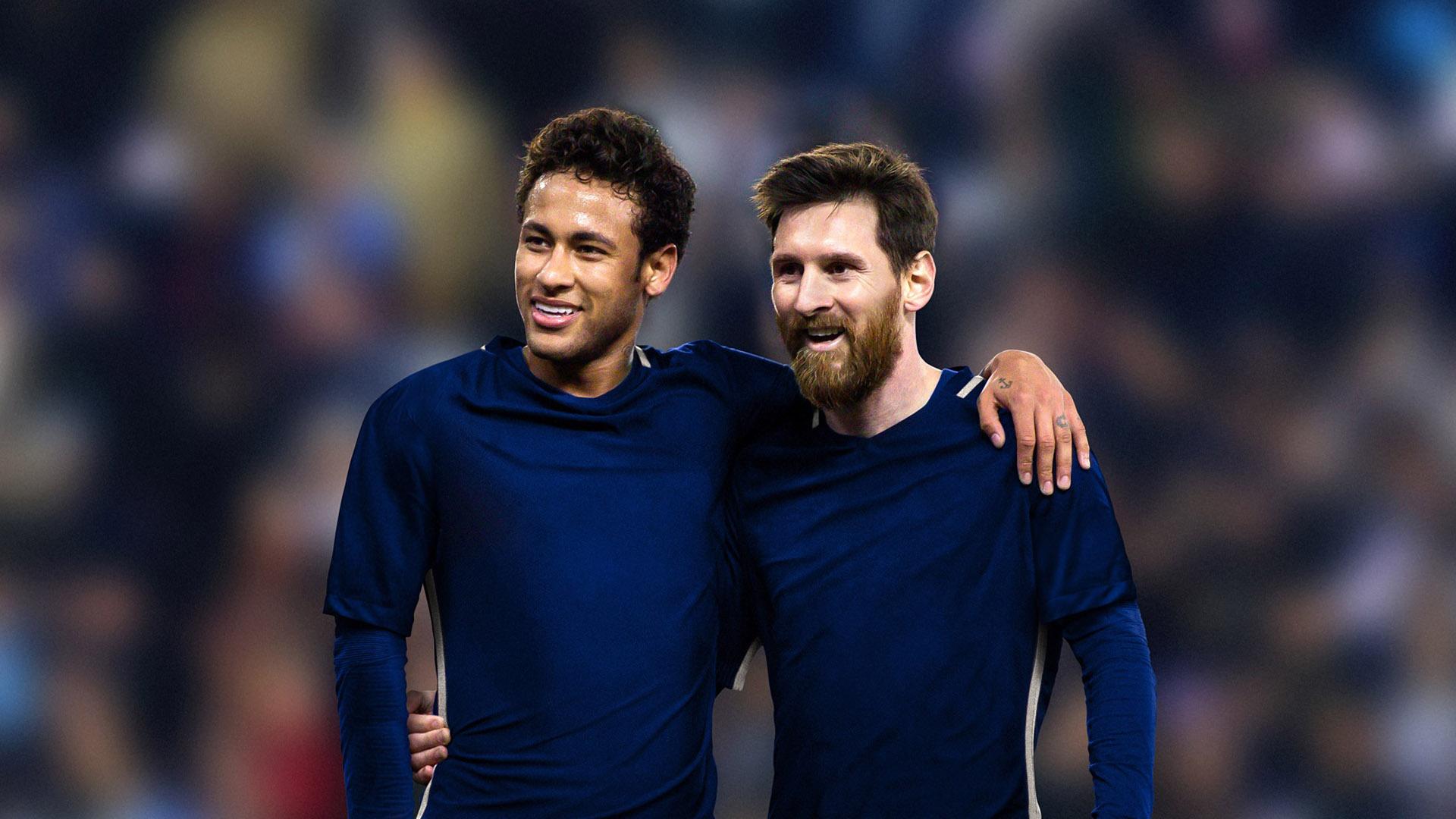 Neymar y Messi son amigos fuera de la cancha (Getty Images)