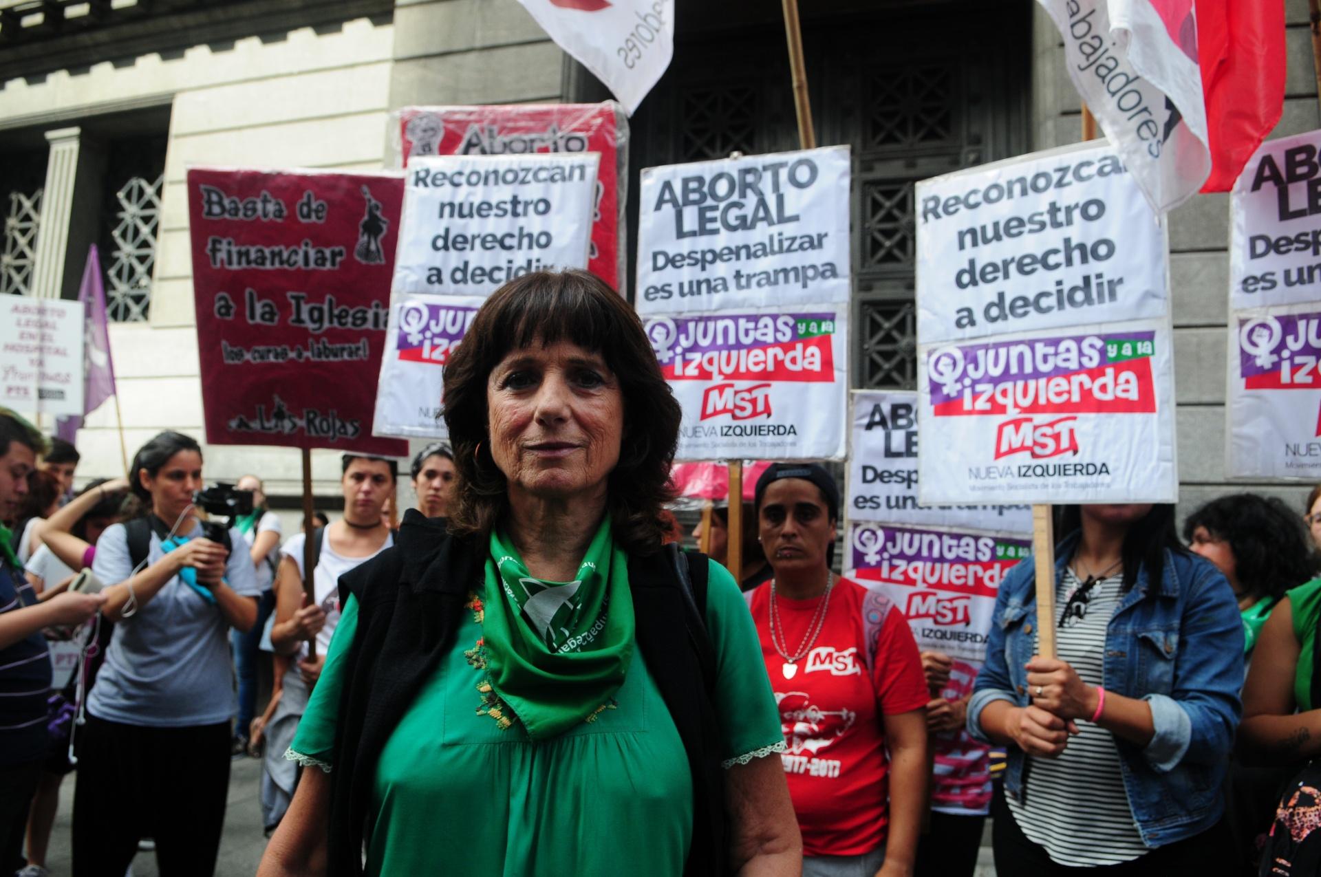 Vilma Ripoll se manifestó en la Plaza del Congreso