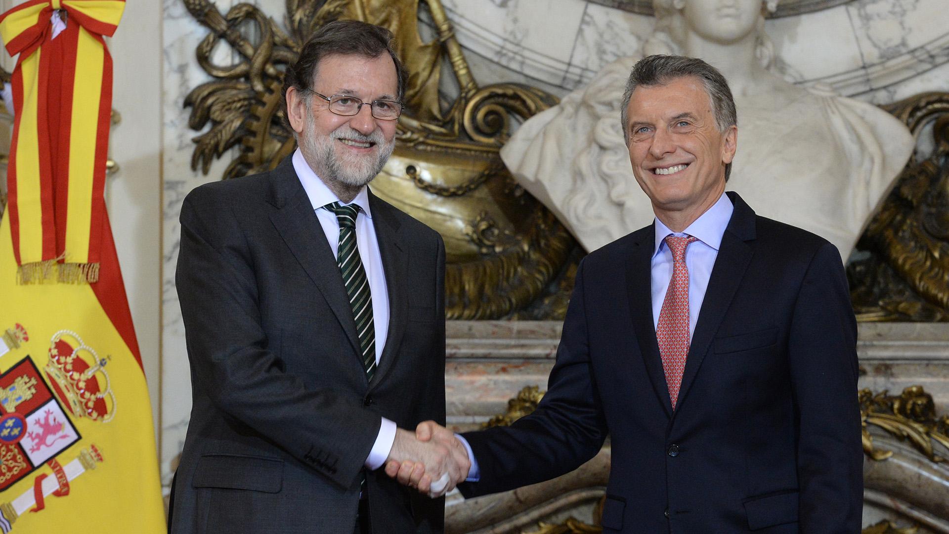 Macri y Rajoy enla Casa Rosada.