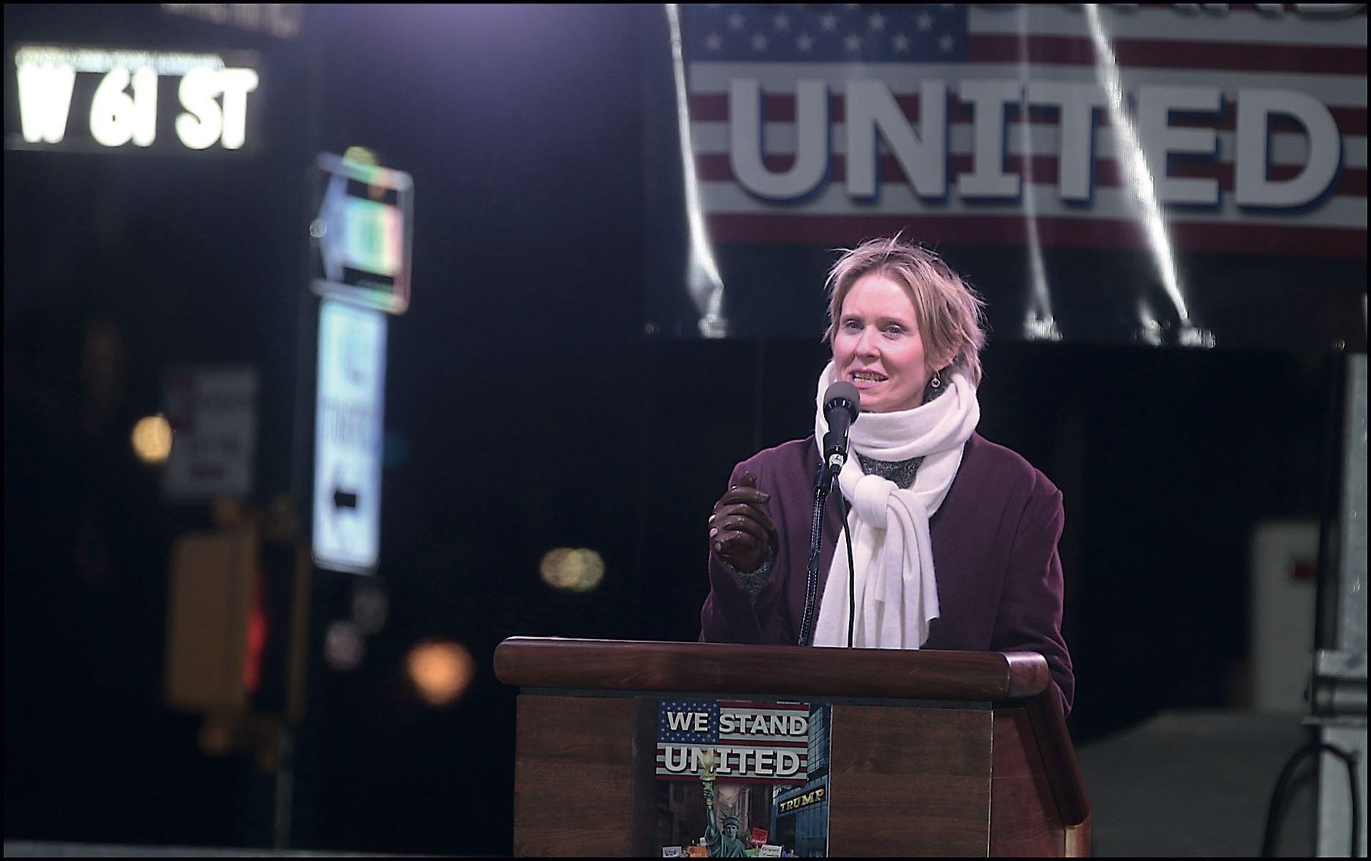 En su presentación como candidata a gobernadora de NYC.