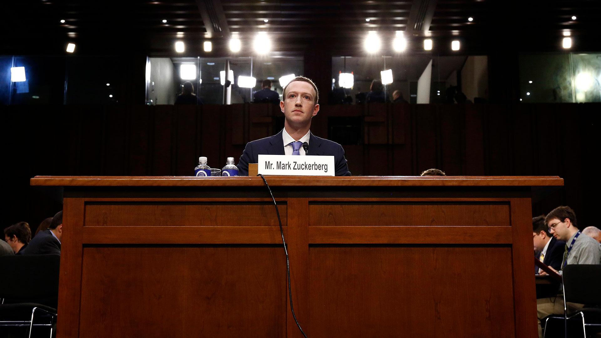 Mark Zuckerberg ante el Congreso de los EE.UU. (Reuters)