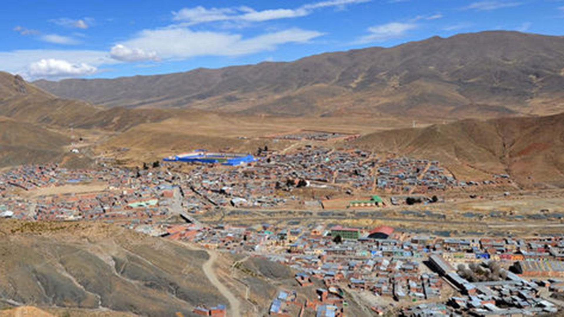 La mina en Huanuni, Oruro, se dedica a la producción de estaño