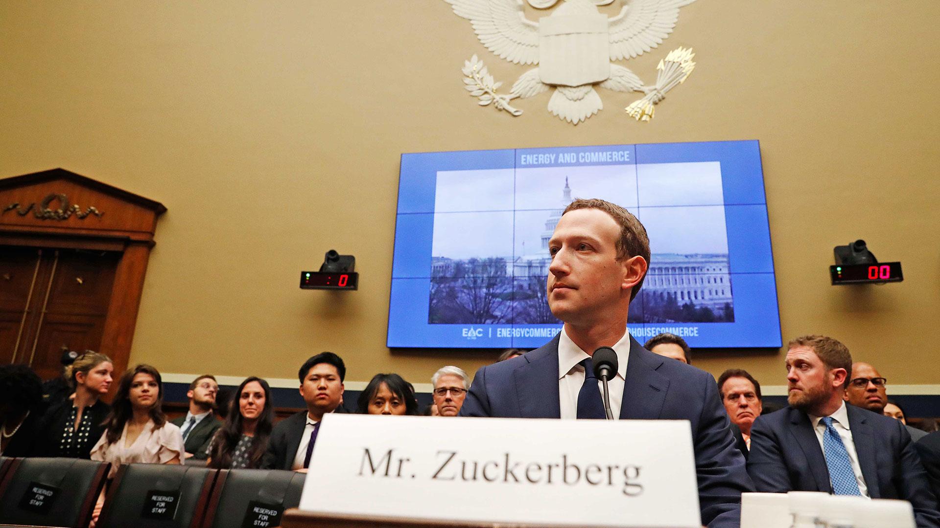 Zuckerberg ante la Comisión de Energía y Comercio de la Cámara de Representantes (Reuters)