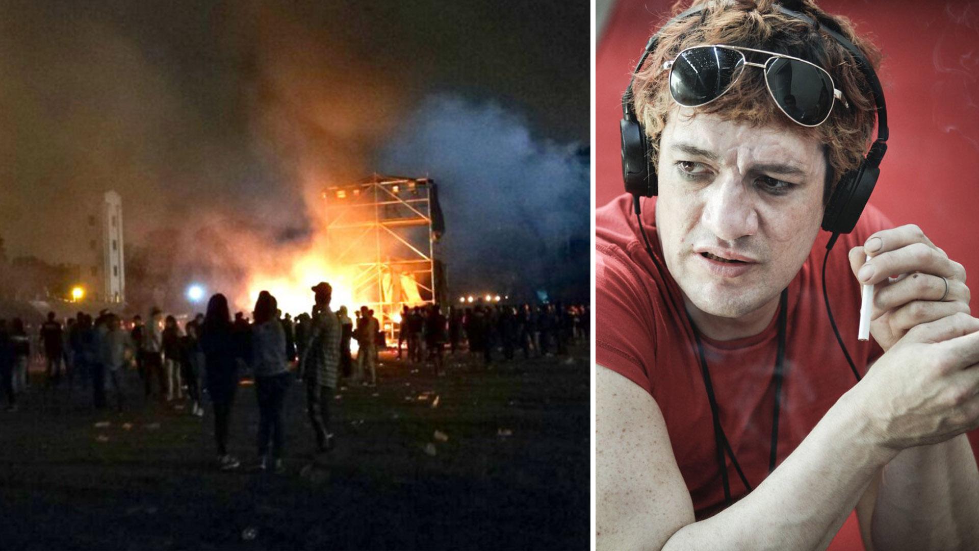 Una imagen de los incidentes en Tucumán