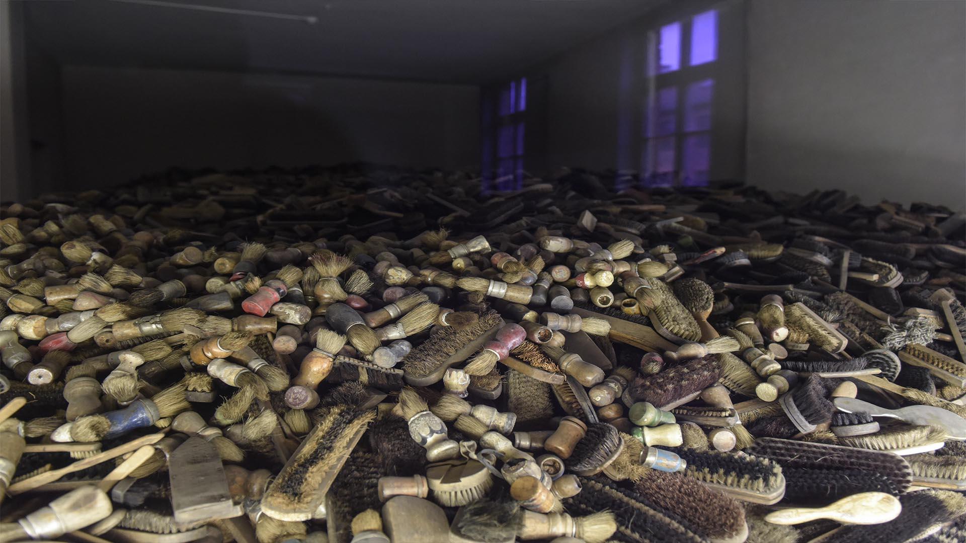 Los objetos de las víctimas en los campos de exterminio