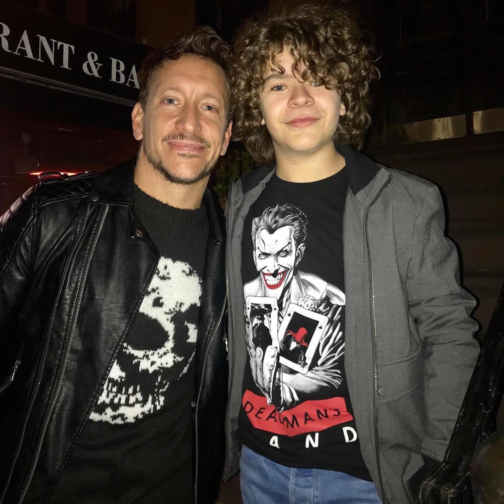 Nico Vázquez y su comentado encuentro con Gaten Matarazzo, el actor de Stranger Things. (Foto Instagram)