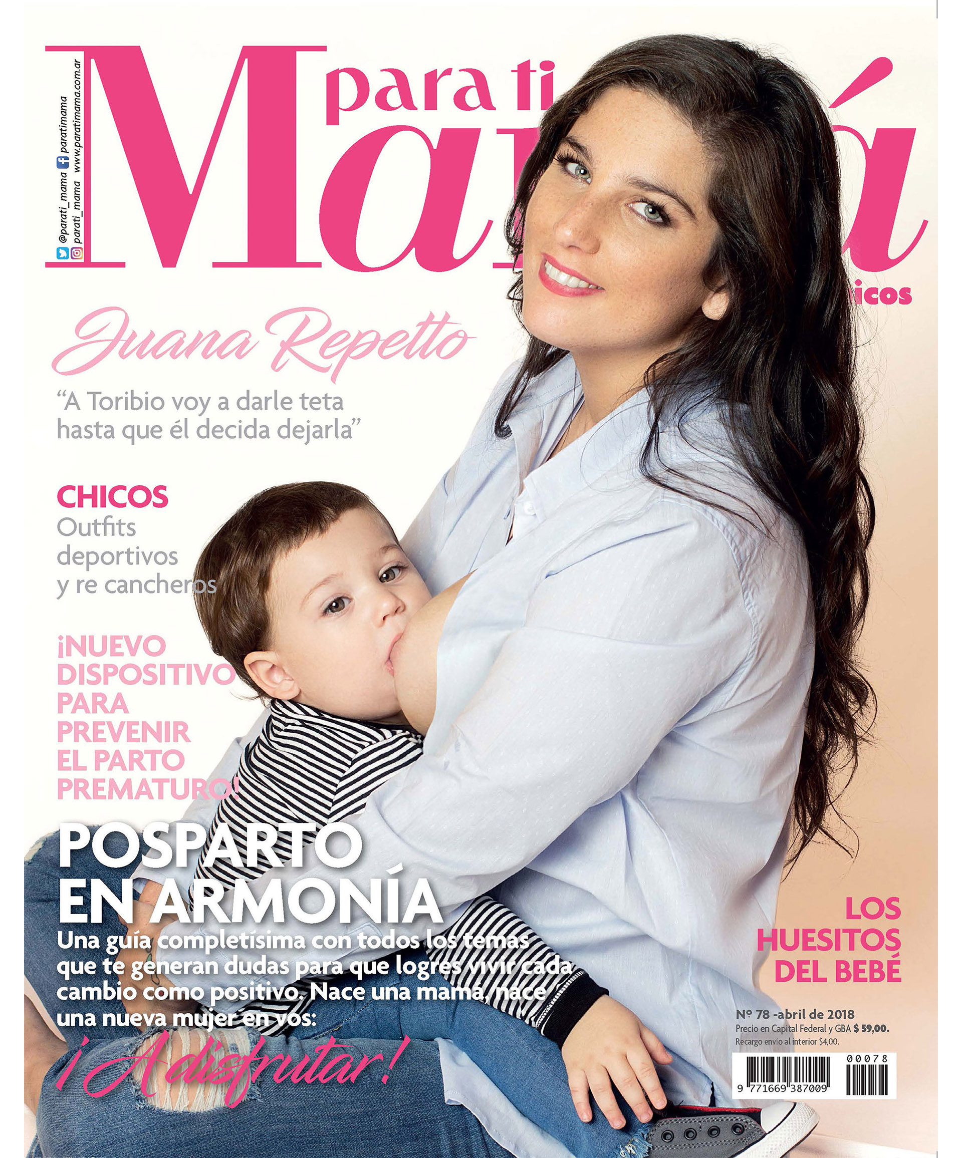 Juana Repetto. Foto: Rosalía Cameroni / Para Ti Mamá.