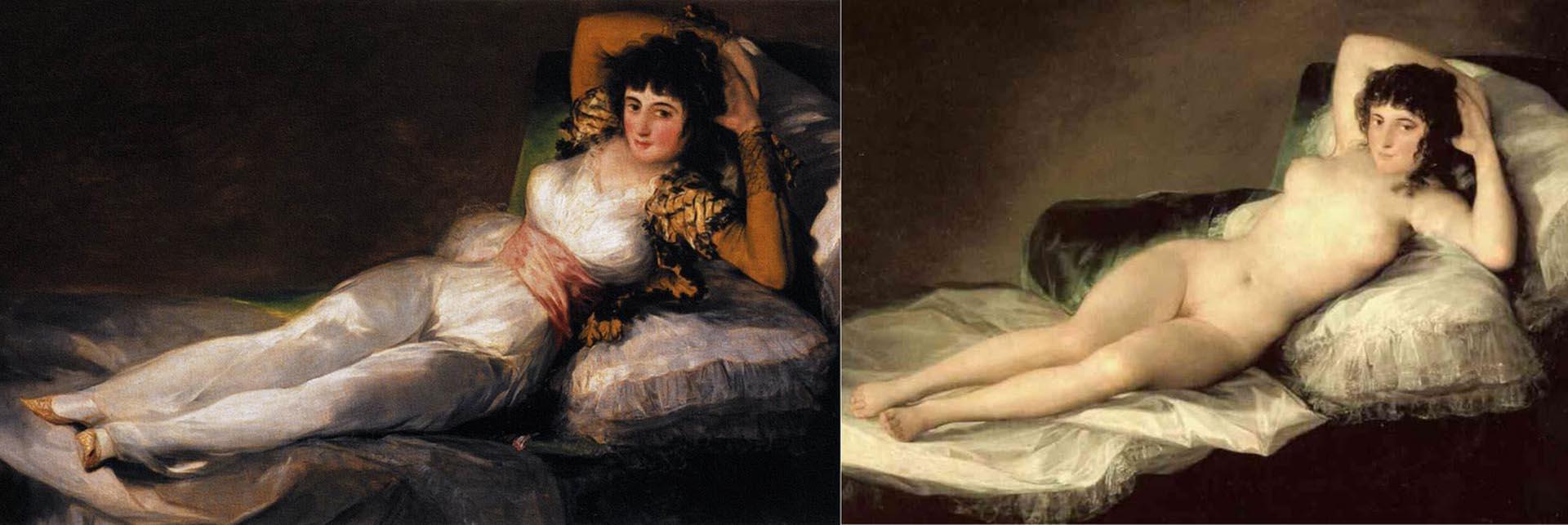 """""""La maja vestida"""" y """"La maja desnuda"""", de Francisco de Goya"""