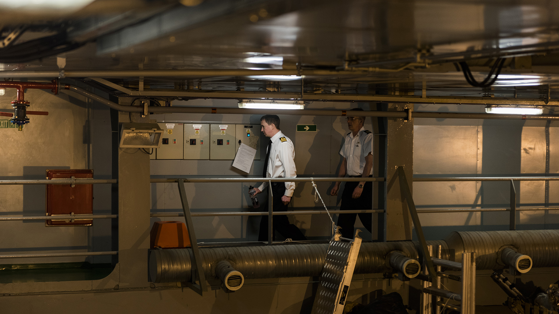 Este jueves, además de una recorrida de prensa, el HMS Protector recibió a un grupo de estudiantes del Instituto Fundador Don Francisco de Merlo