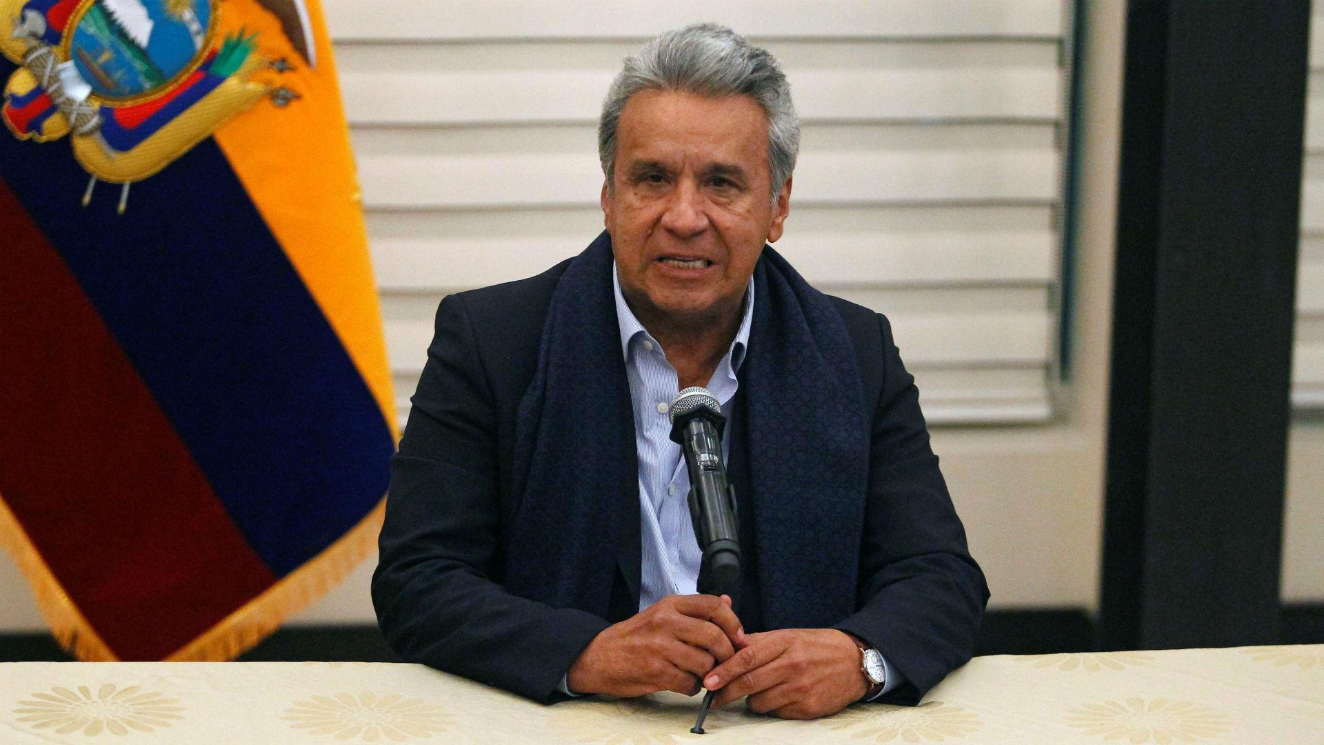 """Lenín Moreno, el presidente de Ecuador, había impuesto un ultimátum de 10 días para capturar a """"Guacho""""(Reuters)"""