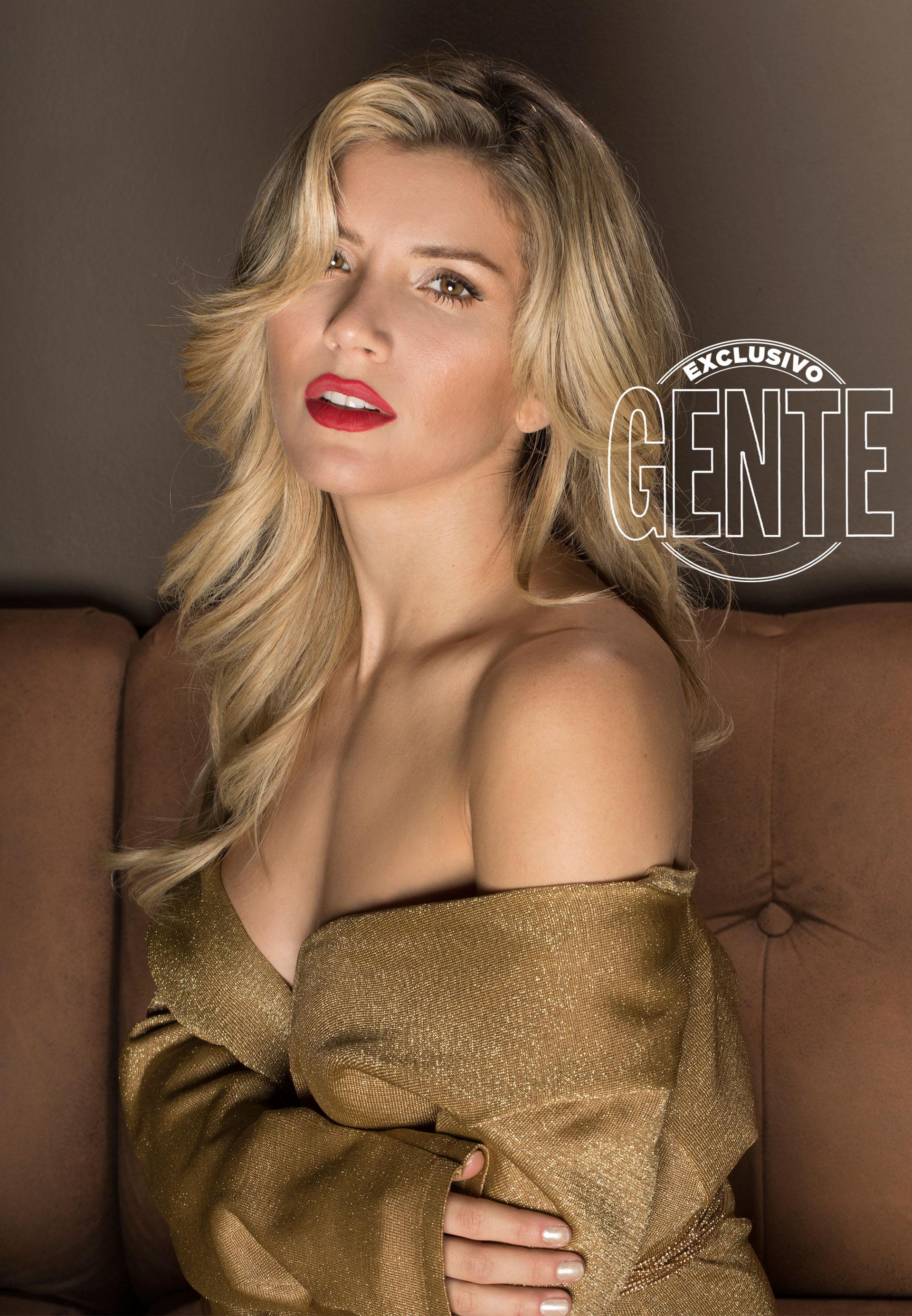"""""""Sobre el escenario no le tengo miedo a nada"""", anuncia Laurita. (Fotos: Christian Beliera /GENTE)"""