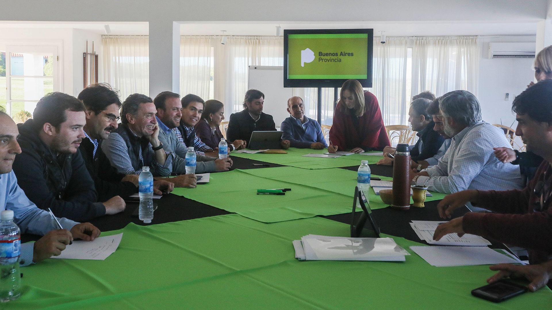 Una de las reuniones de trabajo en Chapadmalal del equipo de María Eugenia Vidal.