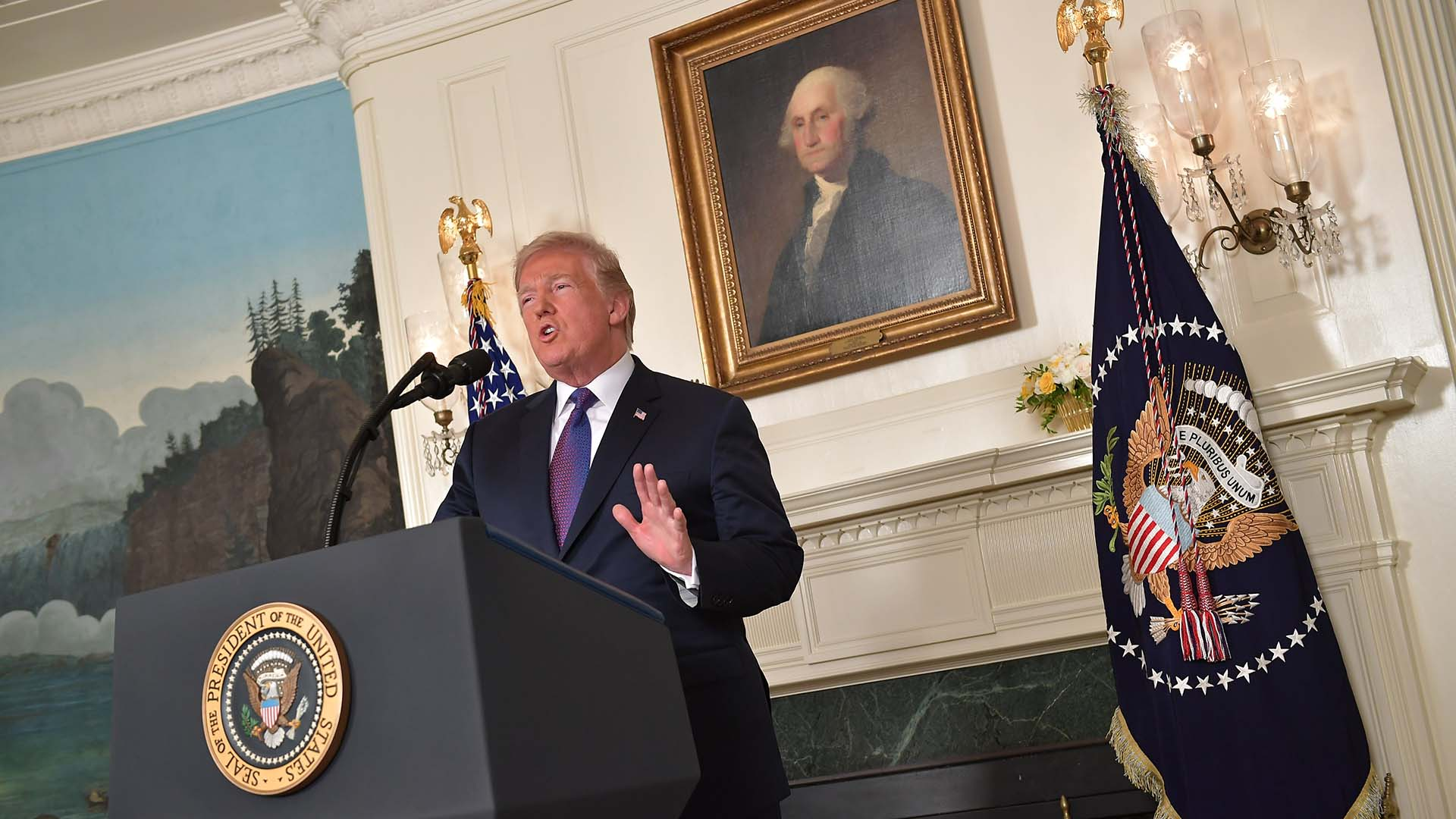 Donald Trump, presidente de los Estados Unidos (AFP)