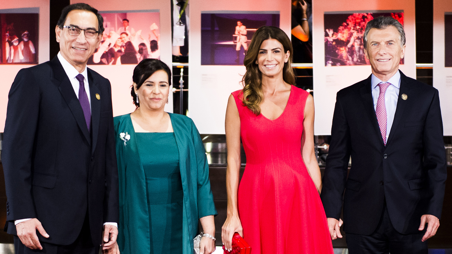 El presidente y su esposa brindaron una comida de honor a Mauricio Macri y Juliana Awada (Presidencia)