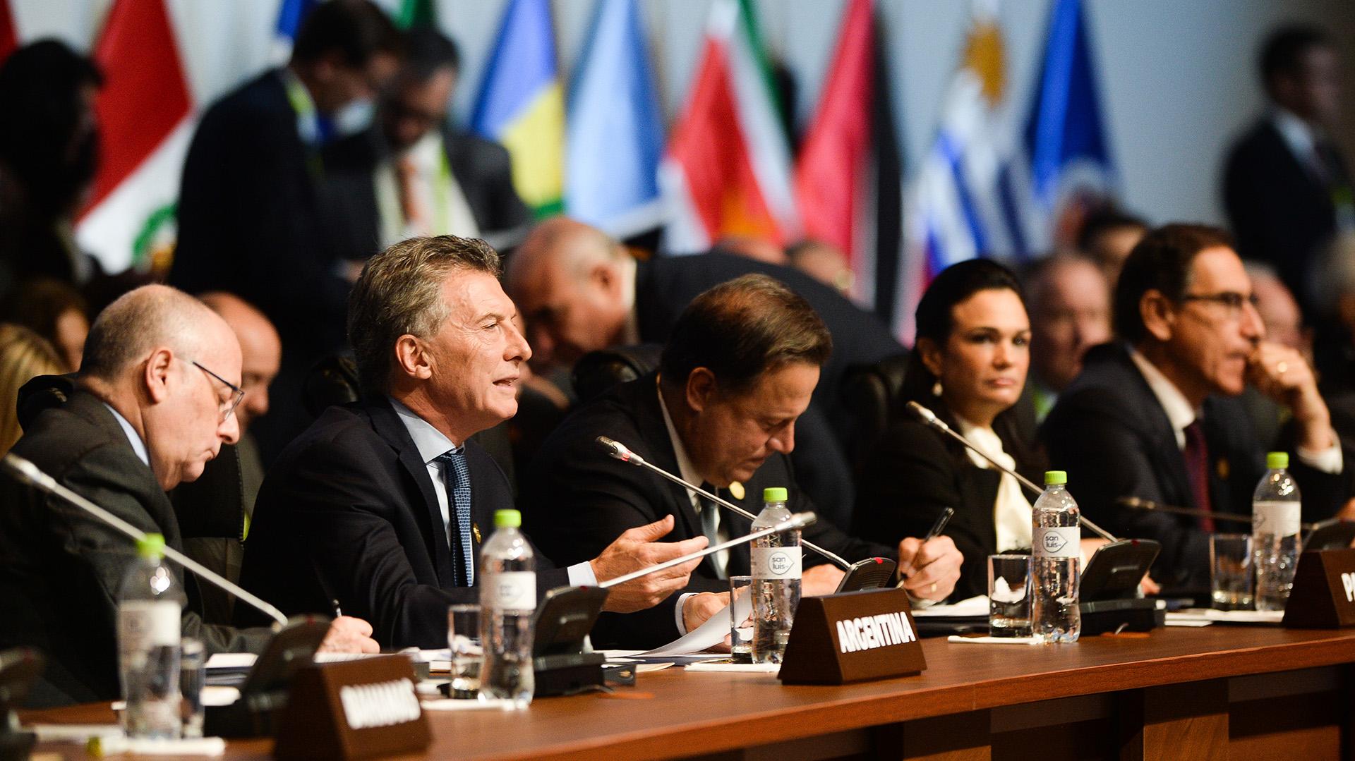 Macri transmitió el mensaje durante la Cumbre de las Américas