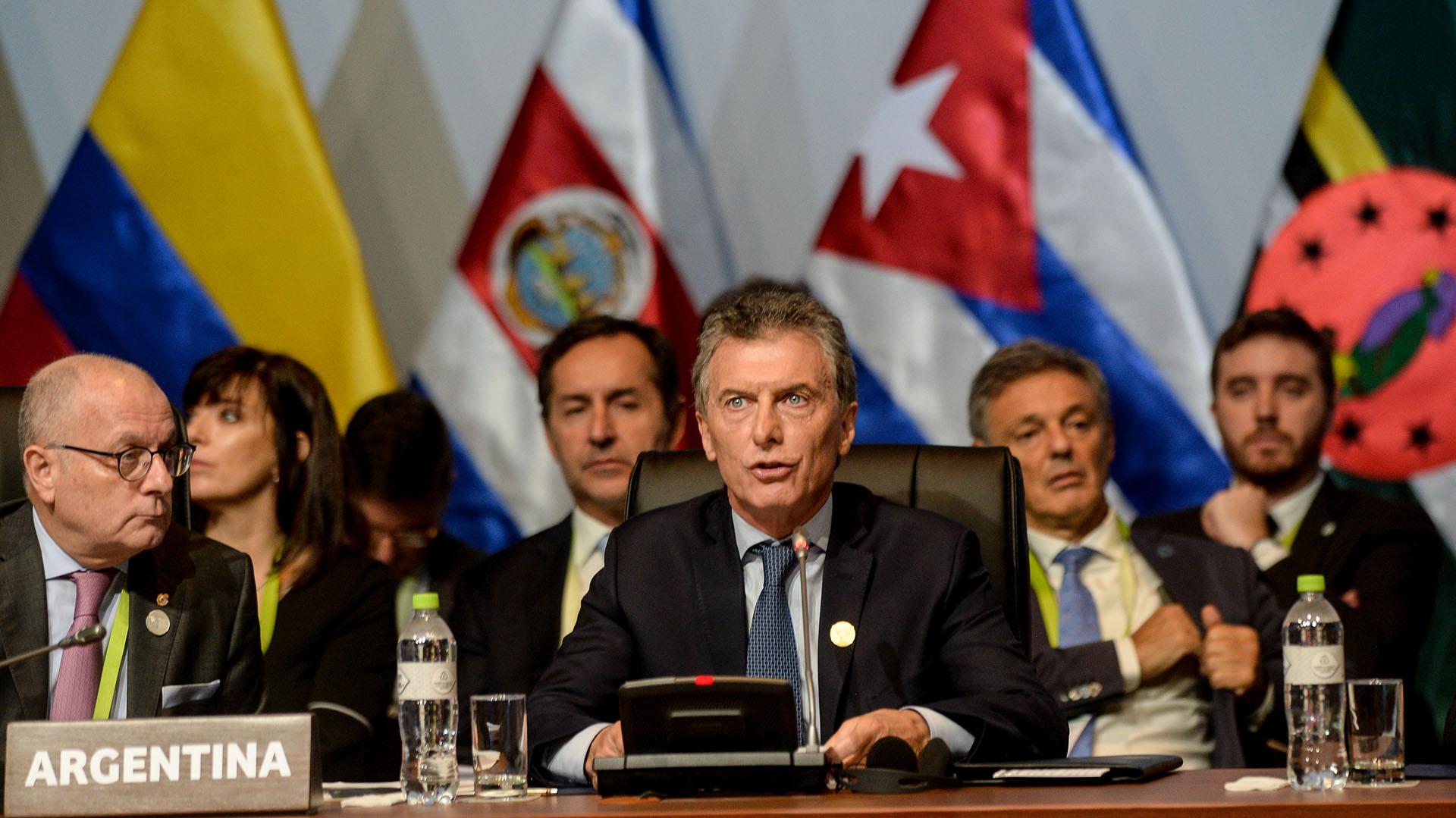 Mauricio Macri pidió preservar la paz y seguridad internacional