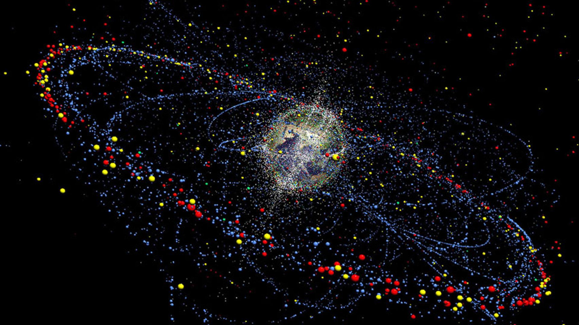 El nuevo mapa de satélites y chatarra espacial se puede operar muy fácilmente