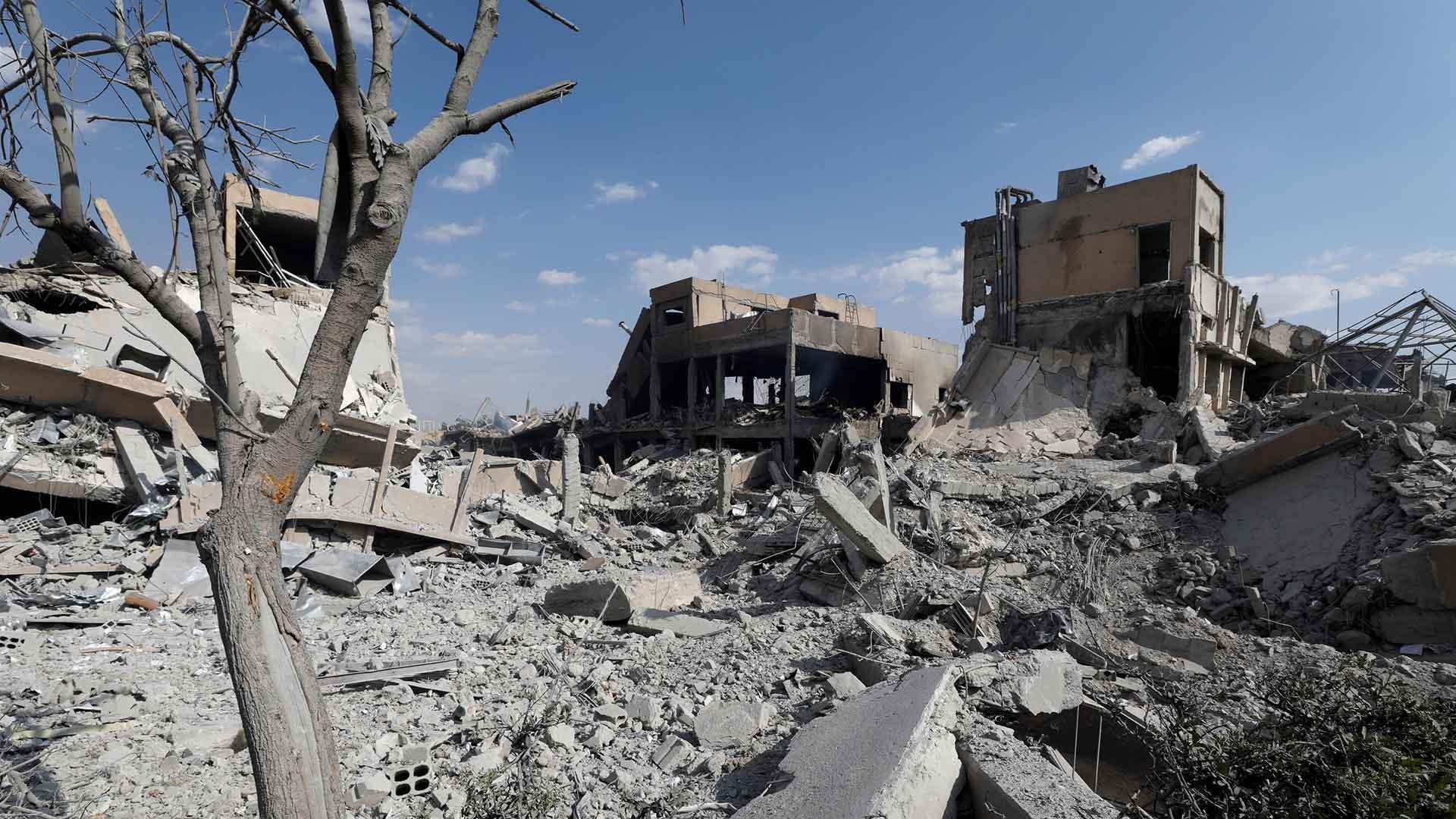 Así amaneció Damasco tras los bombardeos de este sábado (REUTERS)