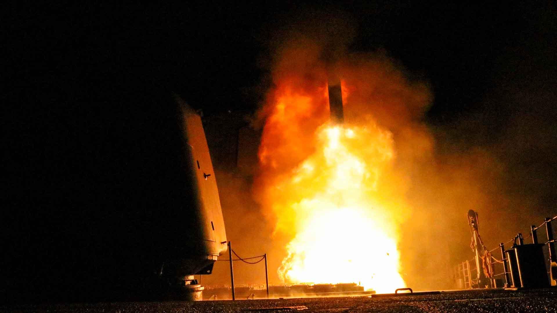 EEUU publicó imágenes del ataque a Siria (REUTERS)