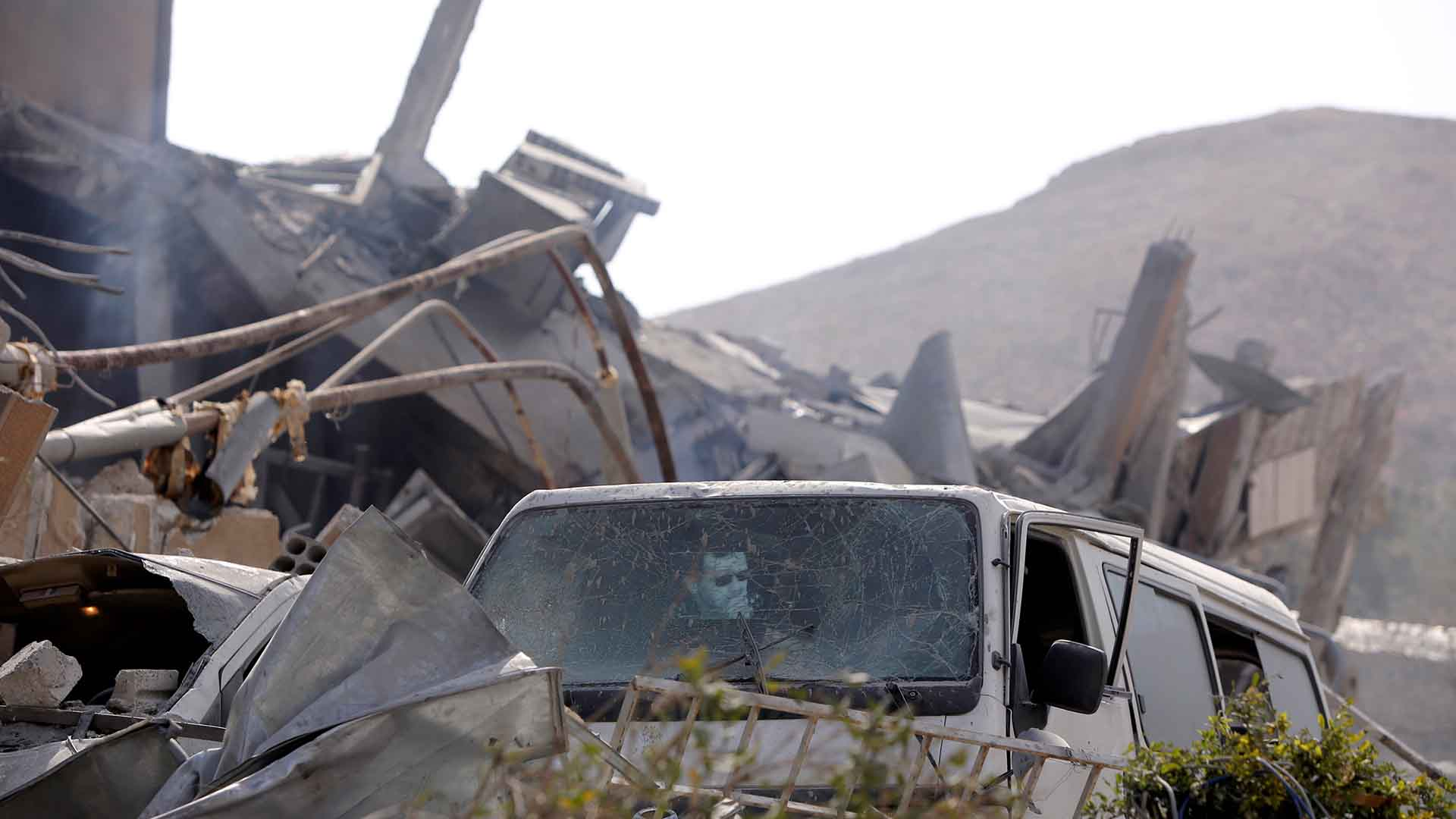 El edificio quedó completamente destruido (REUTERS)