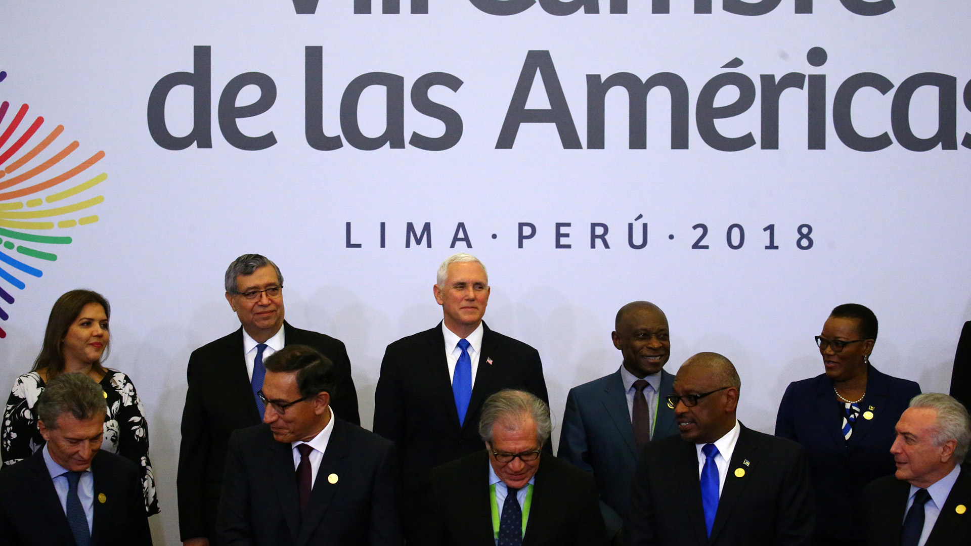 Mike Pence asistió a la Cumbre de las Américas ante la ausencia de Donald Trump(REUTERS)