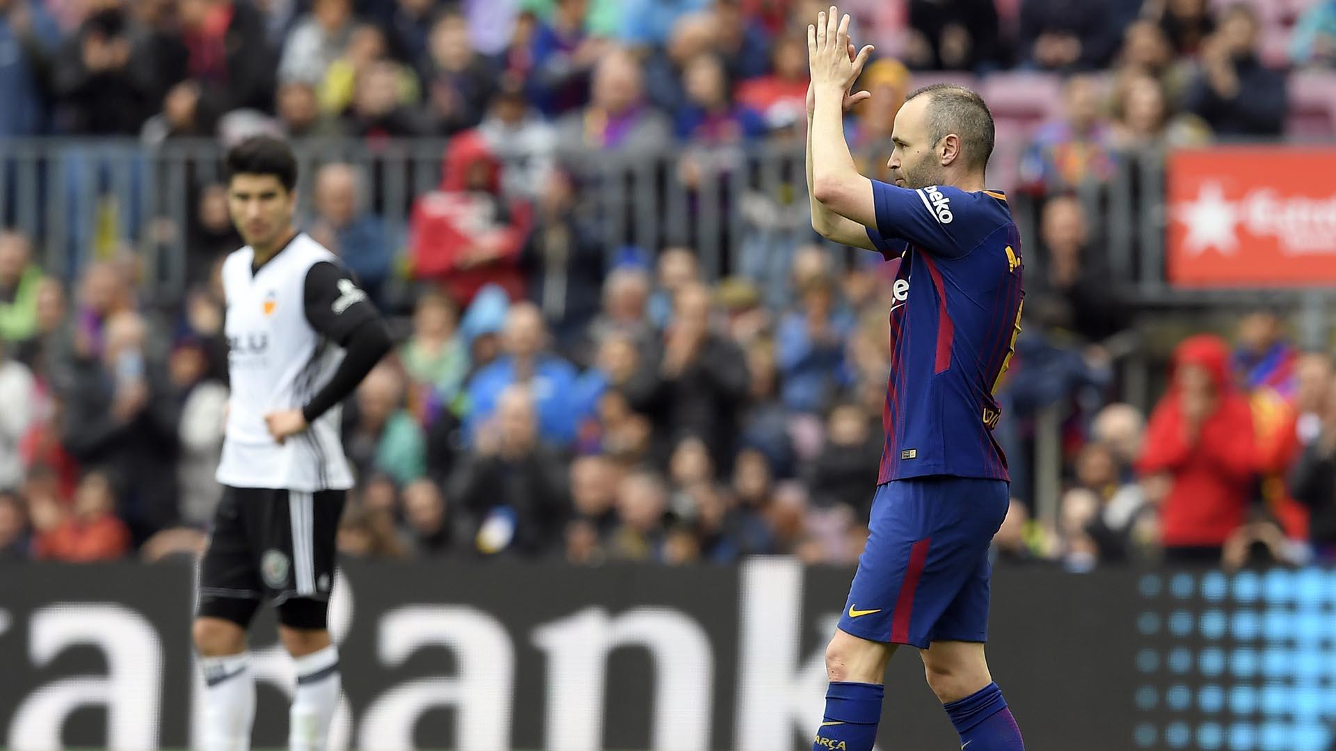 Andrés Iniesta jugará su último clásico ya que se marchará del Barcelona (AFP)