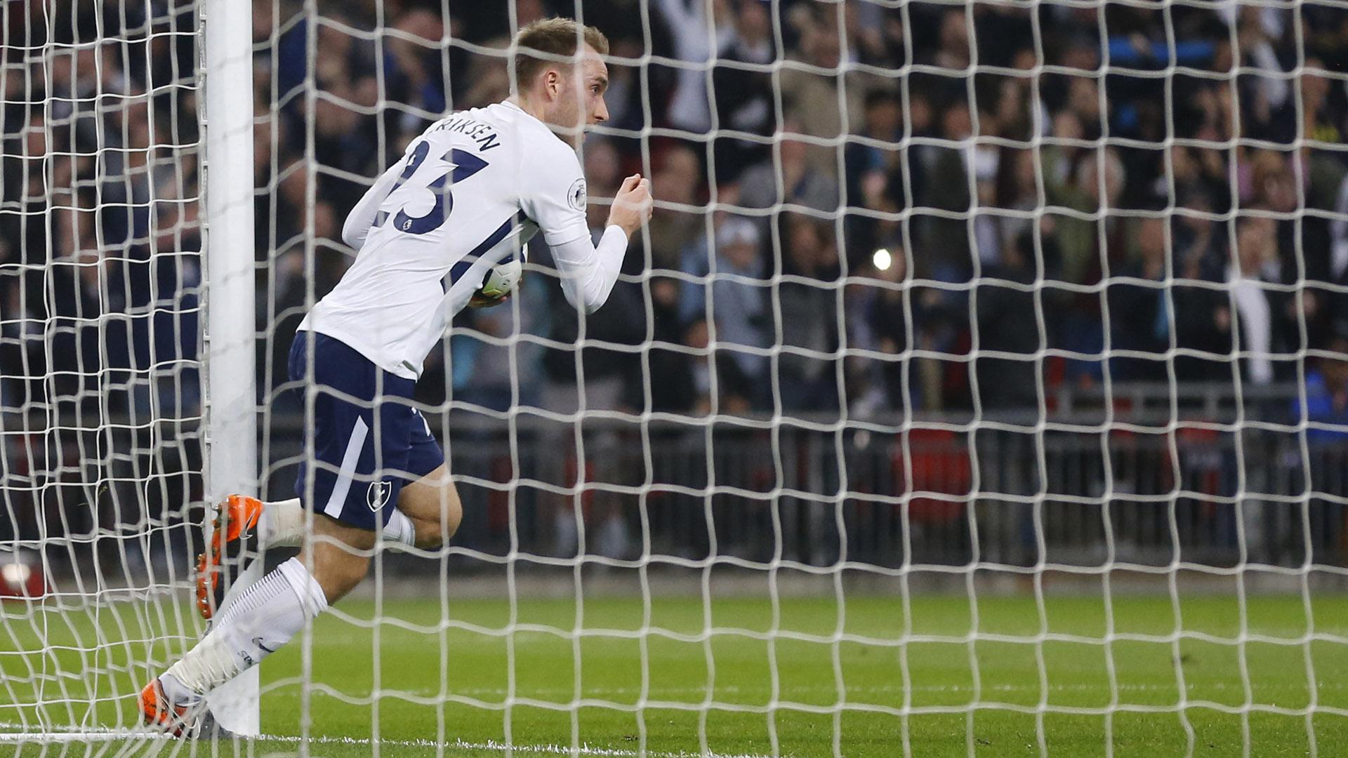 Eriksen llegó al Tottenham en 2104 y ya anotó más de 60 goles con la camiseta de los Spurs (AP)