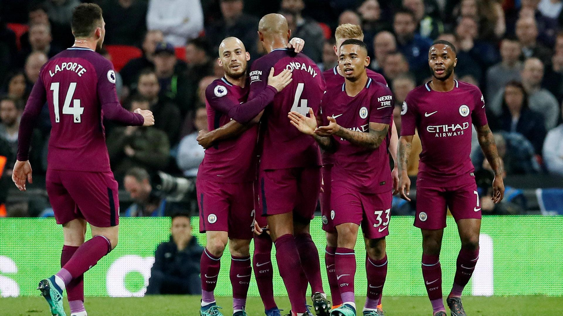 (REUTERS) El Manchester City venció por 3-1 al Tottenham en Londres